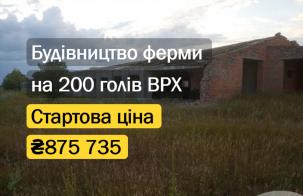 Незавершена будівля ферми на 200 голів