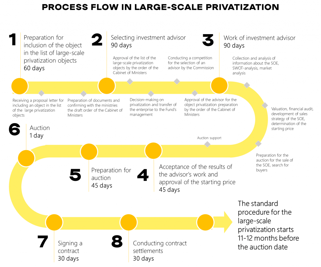 Process Flow of Large-scale privatization
