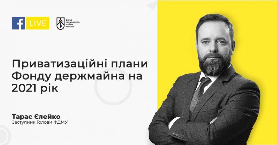 Приватизаційні плани на 2021 рік - Тарас Єлейко